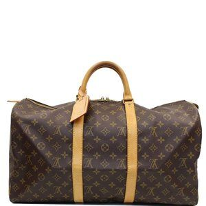 LOUIS VUITTON KEEPALL 50 MONOGRAM CANVAS TRAVEL
